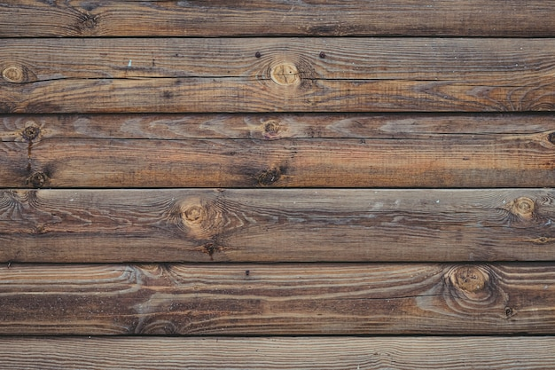 Planches de bois patiné brun, texture bois dur.