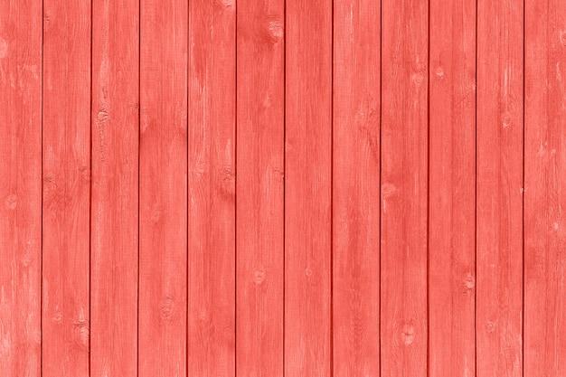 Planches de bois peintes couleur corail tendance de l'année 2019, fond, texture