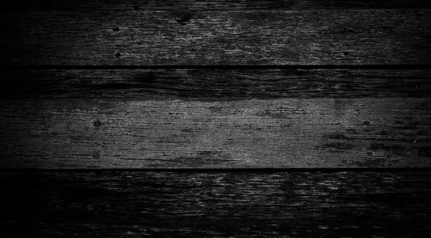 Planches de bois de texture réaliste noire avec structure