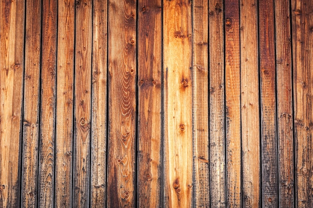 Planches de bois. vieux bois, texture vintage et marron du mur se bouchent.