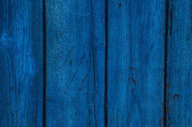 Planches horizontales bleues en bois vintage