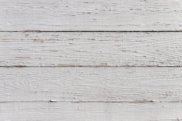 Planches horizontales peintes en blanc avec de la peinture minable. fond texturé détaillé en haute résolution.