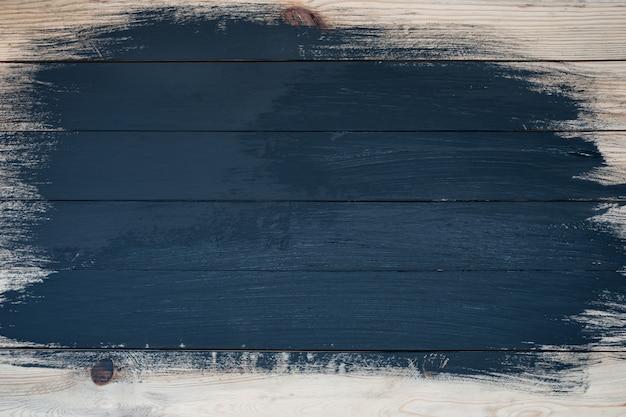 Planches Partiellement Peintes En Noir. Travail Inachevé. Espace Pour Le Texte Photo Premium