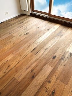 Planches de plancher en bois abstrait