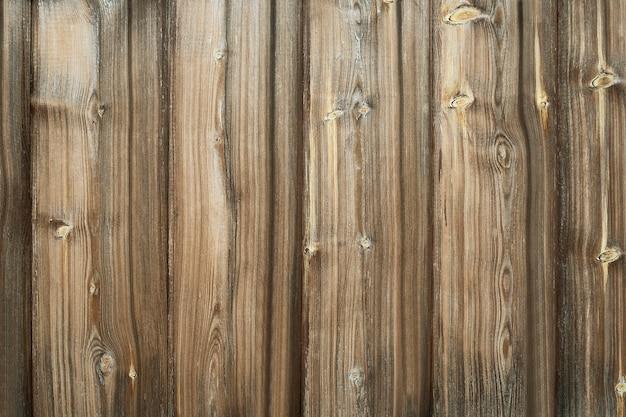 Planches verticales d'une clôture