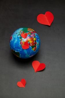 Planète d'amour concept de la saint-valentin