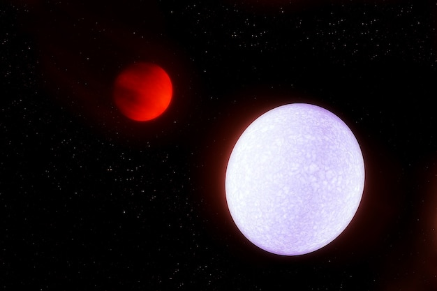 Une planète à côté d'une étoile très chaude. les éléments de cette image ont été fournis par la nasa. photo de haute qualité