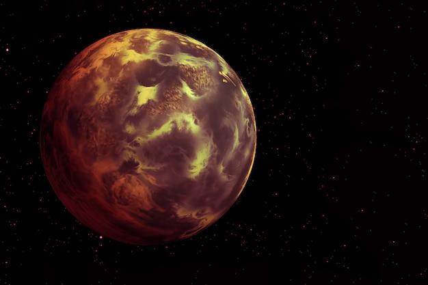 Planète enflammée sur fond noirles éléments de cette image ont été fournis par la nasaphoto de haute qualité