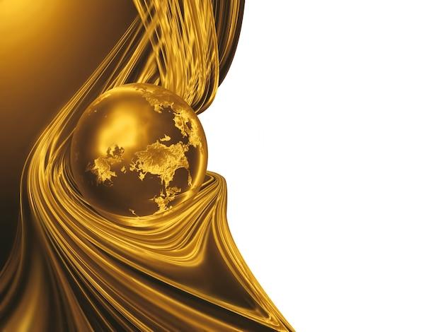 Planète d'or avec des fils d'or - expérience en affaires