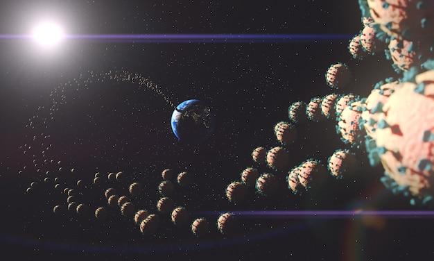 La planète terre et le coronavirus se répandent partout