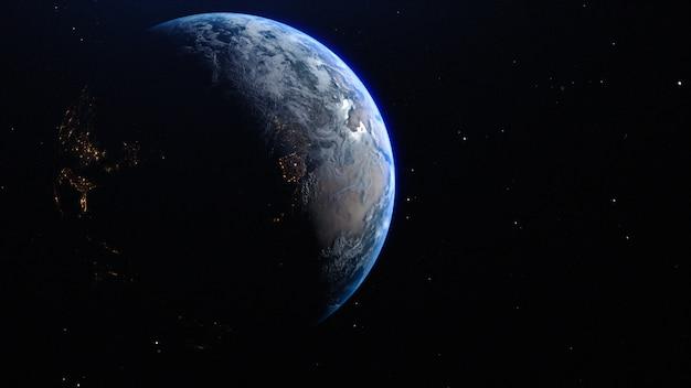 La planète terre dans l'espace