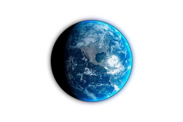 Planète terre isolée sur fond noir, rendu 3d s. éléments de cette image fournis par la nasa