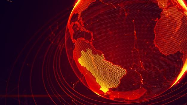 Planète virtuelle détaillée de la terre