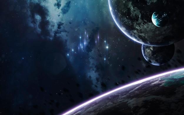 Des planètes incroyablement belles dans l'espace