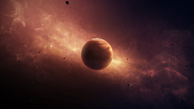 Planètes mars du système solaire