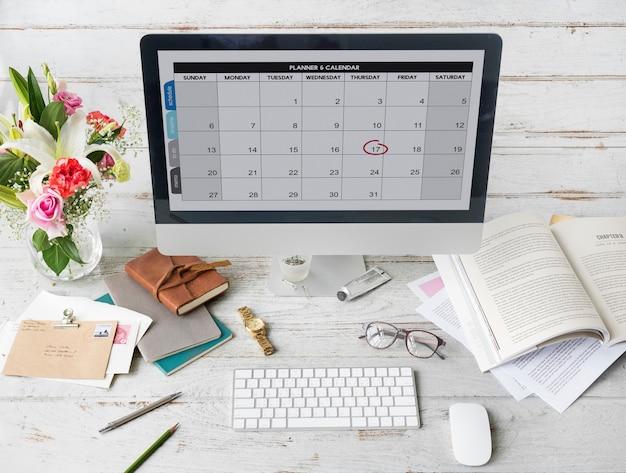 Planificateur calendrier calendrier date concept