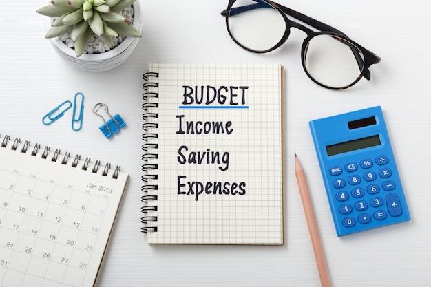Planification budgétaire mensuelle 2019