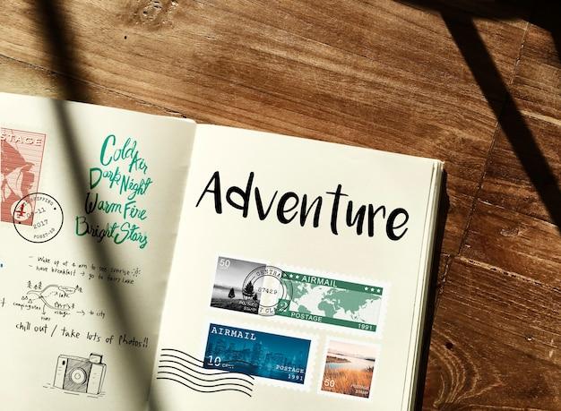 Planification des notes de voyage de voyage wanderkust