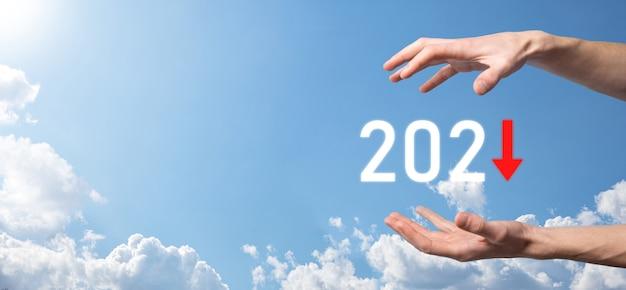 Planifier une croissance négative de l'entreprise dans le concept de l'année 2021