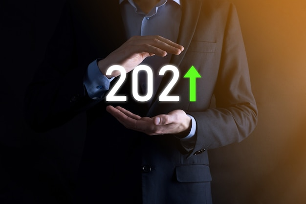 Planifier une croissance positive de l'entreprise dans le concept de l'année 2021