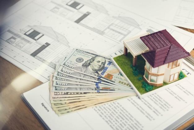 Plans de projet de logement avec un dépôt pour commencer le travail