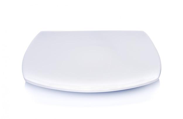 Plaque blanche sur fond blanc