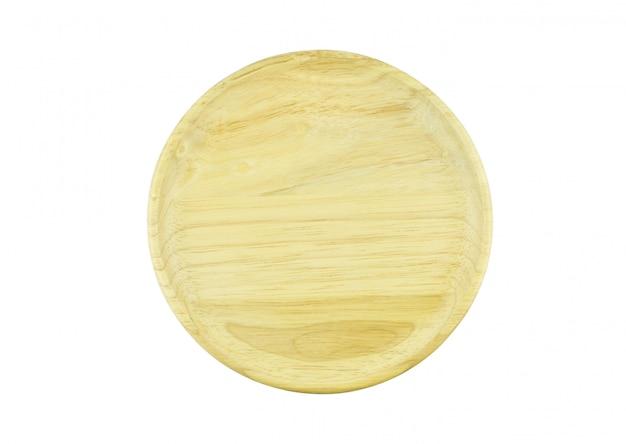 Plaque de bois isolé vue de dessus
