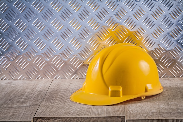 Plaque de métal cannelée de panneau de bois de casque de construction de sécurité