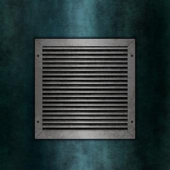 Plaque de métal sur un fond de texture grunge
