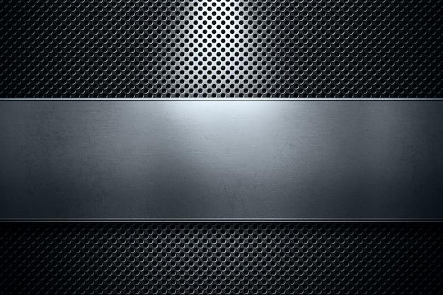 Plaque en métal perforé de couleur moderne abstraite avec métal poli