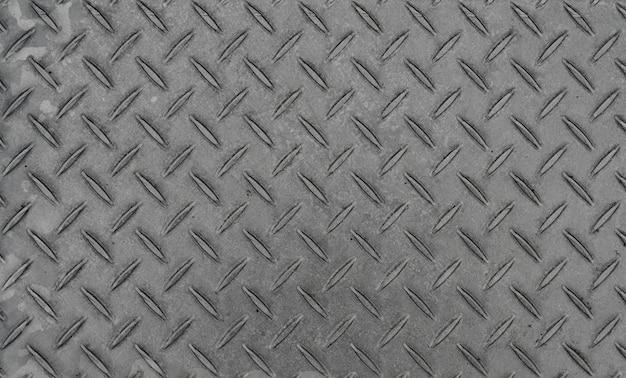 Plaque métallique motif losanges