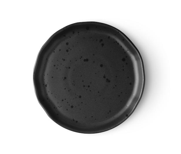 Plaque noire isolée sur blanc