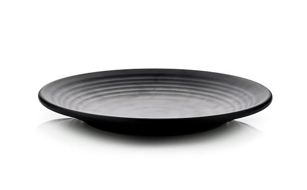 Plaque noire isolée sur espace blanc