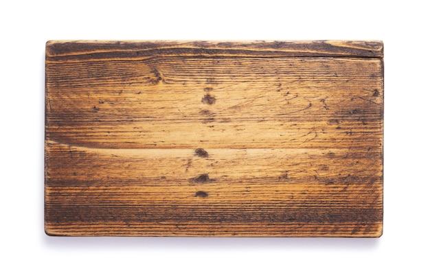 Plaque signalétique en bois à isolé sur fond blanc