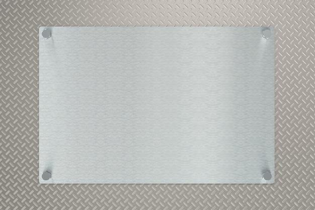 Plaque de vérificateur de fond de rendu 3d avec miroir