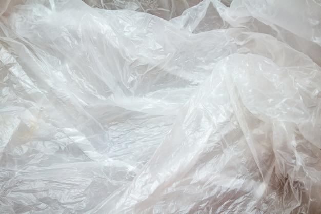 Plastique froissé blanc