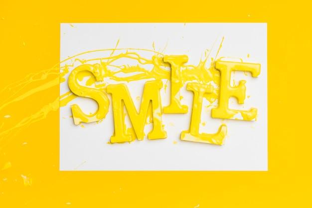 Plat, pose, mot, sourire, peinture