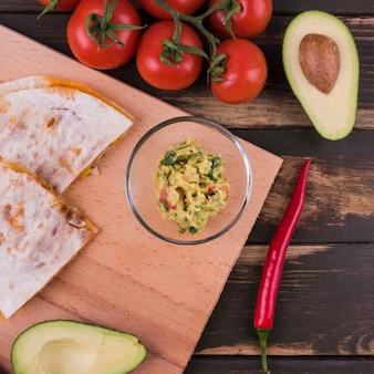 Plat poser de repas mexicain