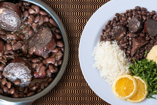 Plat traditionnel brésilien feijoada