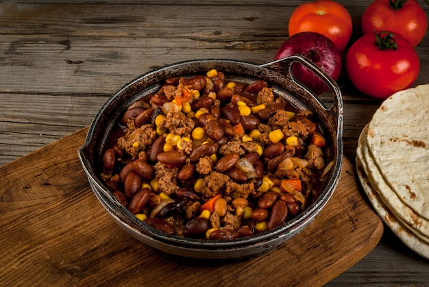 Plat traditionnel mexicain - chilli con carne