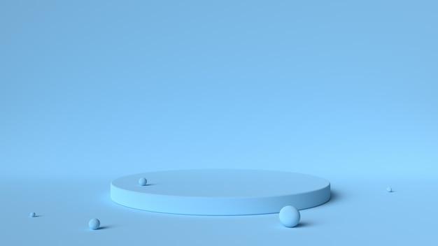 Plate-forme bleue et balles isolées