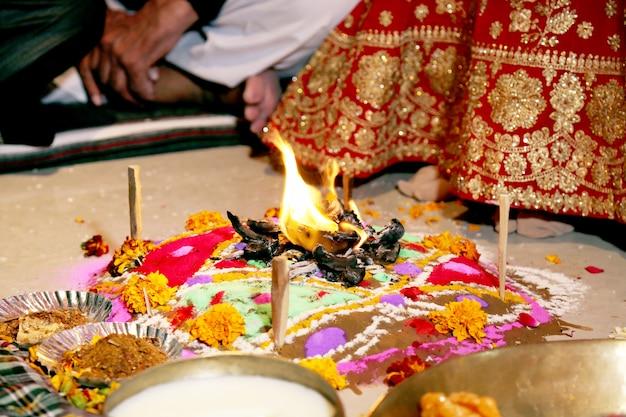 Le plateau de feu - rituels de mariage indien