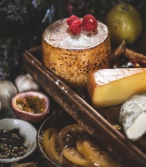 Plateau de fromages, idée de recette de la photographie alimentaire