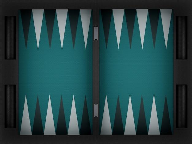 Plateau de jeu de backgammon vue de dessus