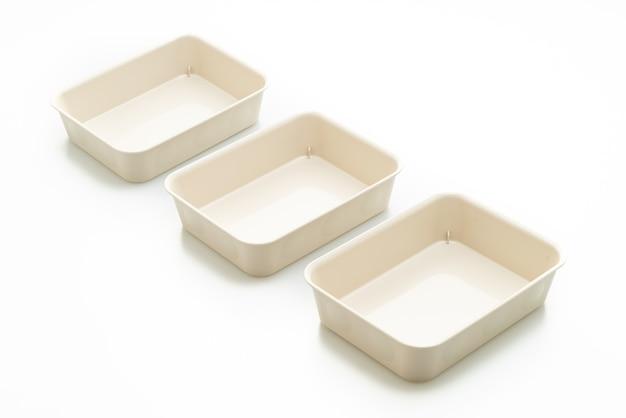 Plateau en plastique ou boîte en plastique isolée