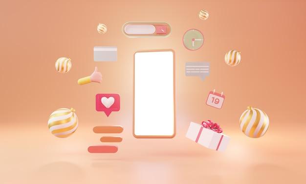 Plateforme de médias sociaux. marketing des médias sociaux, illustration 3d