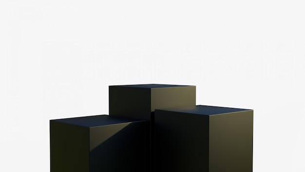 Plateforme noire pour montrer le produit