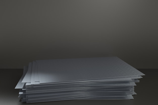 Plateforme de rendu 3d pour la conception, support de produit vierge, plaque d'acier