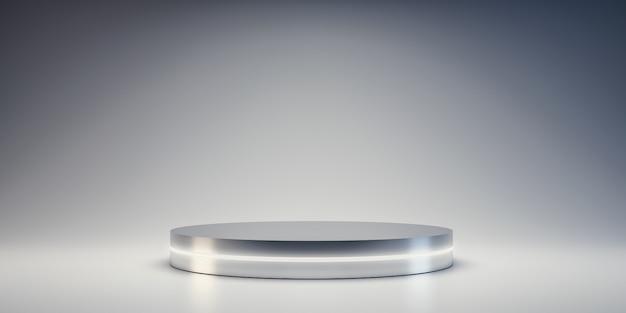 Plateforme silver pour montrer le produit