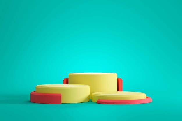 Plates-formes colorées sur fond vert clair